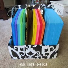 HOW TO CREATE MAGAZINE FILES FROM PRIORITY MAIL BOXES {REPURPOSE}