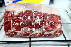 How to Cook Prime Rib: 8 Foolproof Recipes Delicious ways to prepare prime rib in the oven, on the grill, in kabobs, and more. How to Cook Prime Rib: 8 Foolproof Recipes Delicious ways to prepare prime rib in the oven, o Prime Rib In Oven, Prime Rib Recipe Oven, Cooking Prime Rib Roast, Ribs Recipe Oven, Rib Roast Recipe, Cooking Ribs, Roast Beef, Beef Tenderloin, Pot Roast