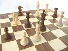 GM Pavasovic chess set - Maple & Walnut by Noj Chess. $800 CAD