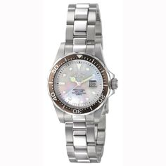 Invicta 4866 Women's Swiss Quartz White Mother of Pearl Dive Watch
