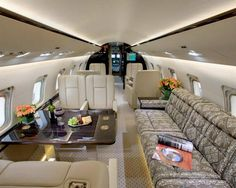 Take a seat and sneak a peek at the world's most luxurious private jets. Al Walid Ib Talal Luxury Private jet Airbus Prestige Airbus. Jets Privés De Luxe, Luxury Jets, Luxury Private Jets, Private Plane, Luxury Yachts, Luxury Hotels, Luxury Travel, Private Jet Interior, Luxury Yacht Interior