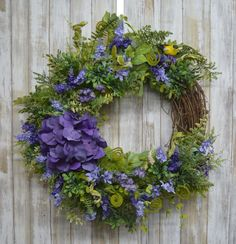Door Wreaths, Grapevine Wreath, Summer Wreath, Spring Wreaths, Mothers Day Wreath, Front Door Decor, Flower Crafts, Holidays And Events, Spring Flowers