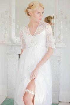 Mimi wedding garter / grey