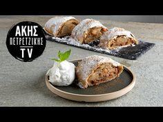 Στρούντελ μήλου με σπιτικό φύλλο από τον Άκη Πετρετζίκη. Φτιάξτε την αυθεντική συνταγή από την Αυστρία με τραγανό φύλλο και ζουμερή γέμιση μήλου! Easter Cookies, Baked Potato, Sweets, Cakes, Baking, Ethnic Recipes, Food, Gummi Candy, Cake Makers