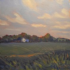 Heidi Malott Original Paintings: White Barn Rural Landscape Heidi Malott
