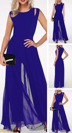 blue jumpsuits, fashion and special, foacl of the crowd, wedding and party. Dress Over Pants, Teenage Girl Outfits, Blue Jumpsuits, Guess Dress, Elegant Woman, Fashion Outfits, Couture, Clothes For Women, Dresses