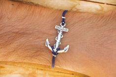 Anchor bracelet for men Anchor cord bracelet mens by LeatherMen, $7.50