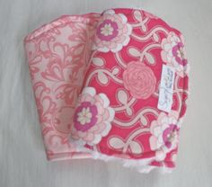Baby Girl Poetica Burp Cloth or Bib Set of 2 by SugarPlumLaneBaby, $18.00