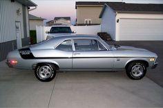 1970 Chevrolet Nova Yenko Deuce 350 cid / 370 horsepower small block LT1 option code silver with black stripes