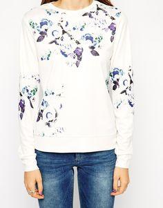 ASOS Sweatshirt in Floral Crepe