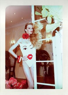 jerry hall in a hot swimsuit
