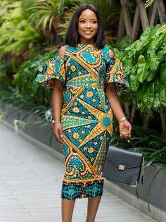 Elegant Ankara Fashion Styles at the Moment Short African Dresses, Ankara Long Gown Styles, African Print Dresses, African Print Fashion, Africa Fashion, African Fashion Dresses, African Attire, African Wear, Ankara Styles
