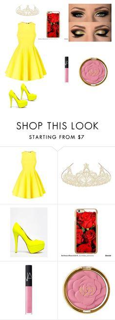"""Belle"" by sunshinekej on Polyvore featuring AQ/AQ, Monsoon, Anne Michelle, Incipio, NARS Cosmetics, Milani, women's clothing, women's fashion, women and female"