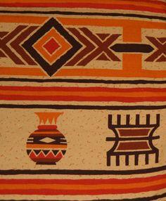 Designer African Orange Apricot Cotton by AfricanArtHomeDecor, $119.00