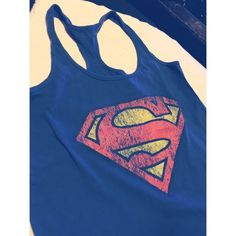 Superwoman Tank  Great condition, wear with casual outfit or simply around the house. Will fit a Sm-Med. comfortably ❤️ BUNDLE & SAVE  Tops Tank Tops