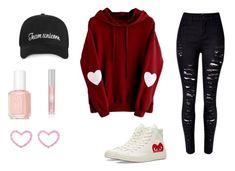 """cheese"" by nevaeh678 on Polyvore featuring Converse, Essie and Lipstick Queen"