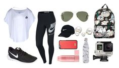 """""""Hiking"""" by valeriatrujillog on Polyvore featuring NIKE, Ray-Ban, GoPro, adidas Originals, Allurez, Nike Golf, Dolce&Gabbana and S'well"""