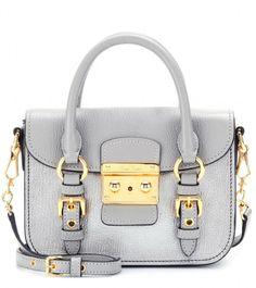Miu Miu Leather shoulder bag on shopstyle.com