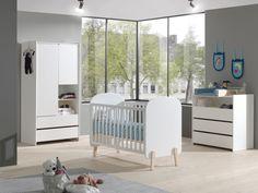 Patut din lemn de pin si MDF pentru copii Kiddy White #baby #kidsroom #babysbed #homedecor #interiordesign #inspiration #decoration Cribs, Toddler Bed, Interior, Furniture, Design, Home Decor, Junior, Products, Construction