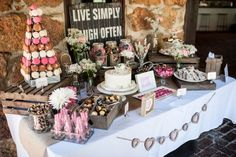 another pic of our candy buffet - rustic romance style : wedding brown buffet candy diy inspiration ivory pink pink candy bar rustic Davidinga 375