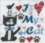 I Love My Cat. Free chart by Barbara Ana.
