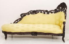 Victorian Laminated Rosewood Rococo Large Size Recamier Attributed John Henry Belter, NYC - Circa 1850 ❥