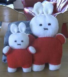 Nijntje   Knuffels-breien-en-haken.jouwweb.nl Doll Toys, Dolls, Miffy, Knit Crochet, Hello Kitty, Barbie, Teddy Bear, Knitting, Crafts