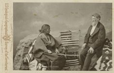 Navajo chief Manuelito's wife Juanita with Indian Agent W.F.M. Arny, Washington, DC  Photographer: Charles M. Bell Date: 1874