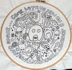 DesignerFake's Mighty Boosh Hand Embroidery