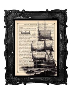 SHIP PRINT 2 WORD SAILING by BlackBaroque