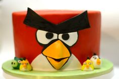 angry bird cakes images | Red Angry Bird Cake - by faye @ CakesDecor.com - cake decorating ...