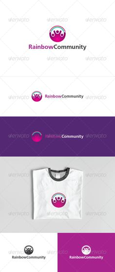 Rainbow Community Logo Template — Photoshop PSD #crowd #rainbow • Available here → https://graphicriver.net/item/rainbow-community-logo-template/3156613?ref=pxcr
