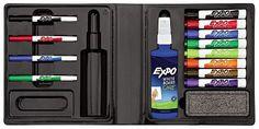 EXPO® Dry Erase Marker/Eraser/Cleaner, Chisel/Fine, Assorted, 12/Set
