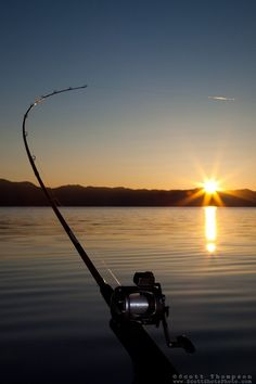 LOVE fishin' when the sun's jus' comin' up over the horizon, thru the day, as the sun sets 'n thru the nite <3