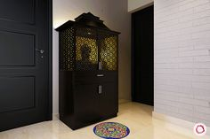 pooja room vastu tips_mandir gopuram Mandir Design, Pooja Mandir, Pooja Room Door Design, Home Temple, Temple Design, Puja Room, Vintage Light Fixtures, Indian Homes, Prayer Room