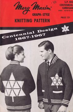 Items similar to Knitting Pattern, PDF,Centennial Design Canadian Sweater, Marry Maxim on Etsy Vintage Knitting, Pattern Design, Knitting Patterns, Trending Outfits, Handmade Gifts, Etsy, Jewelry, Style, Kid Craft Gifts