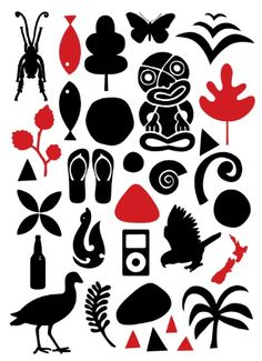 Icons of New Zealand by Greg Straight for Sale - New Zealand Art Prints Waitangi Day, Maori Symbols, Maori Designs, New Zealand Art, Jr Art, Maori Art, Kiwiana, Print Artist, World Cultures