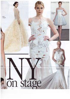On @voguesposait: New York on stage! #ElisabettaPolignano #VogueSposa #weddingdress
