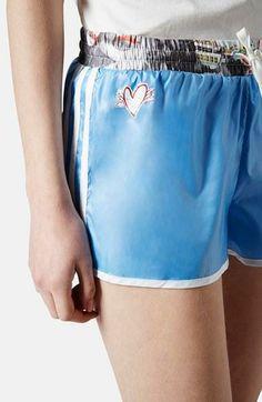 Want for spring! Topshop x adidas originals blue shorts