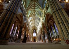 The glorious nave of Lincoln Cathedral.  {photo: ricklus on Flickr}