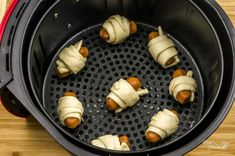 Looking for something fun to cook in your air fryer? These air fryer pigs in a blanket are so easy! Great for an appetizer, family gathering, or just because!