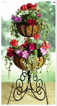 wrought iron garden planter