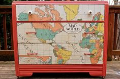 World Map Dresser Redo :: Hometalk