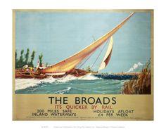 Vintage travel poster - UK - Norfolk Broads