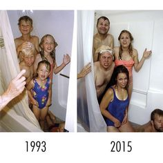 30 siblings who hilariously recreate their childhood photos. - 30 siblings who hilariously recreate their childhood photos. 30 siblings who hilariously recreate t - Humor Videos, Funny Cute, The Funny, Super Funny, Growing Up With Siblings, Photo Recreation, Humor Grafico, Just For Laughs, Funny Photos