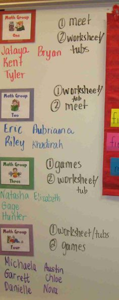 math groups ideas