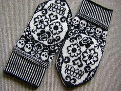 Ravelry: Calaveras mittens pattern by JennyPenny Knitting Charts, Loom Knitting, Knitting Stitches, Knitting Designs, Knitting Projects, Knitting Socks, Knitting Patterns, Crochet Patterns, Knitted Mittens Pattern