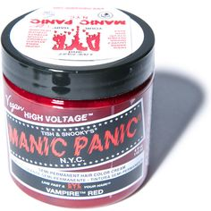 Manic Panic Vampire Red Classic Hair Dye ($14) ❤ liked on Polyvore featuring beauty products, haircare, hair color, hair, beauty, hair dye, accessories and filler