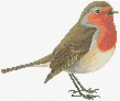 Cross Stitch | Robin Redbreast xstitch Chart | Design