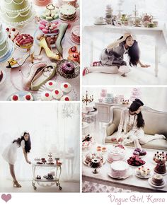 So much to LAP up with my eyes!!! Color, sweets, shoes, vintage, Lola... love. via decor8
